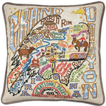Grand Canyon National Park Embroidered Catstudio Pillow-Pillow-CatStudio-Top Notch Gift Shop