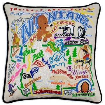 Montana Embroidered Catstudio State Pillow