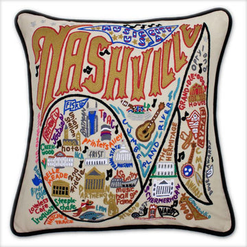 Nashville Embroidered Catstudio Pillow