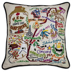 New Hampshire Hand Embroidered Catstudio State Pillow-Pillow-CatStudio-Top Notch Gift Shop