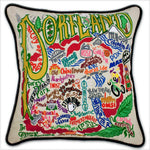 Portland (OR) Hand Embroidered Catstudio Pillow-Pillow-CatStudio-Top Notch Gift Shop