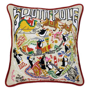 South Pole Embroidered CatStudio Pillow-Pillow-CatStudio-Top Notch Gift Shop
