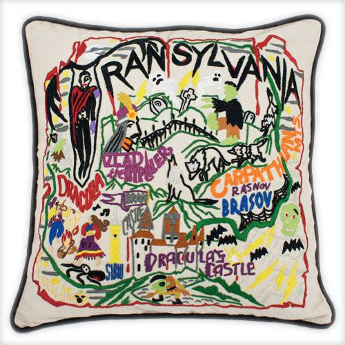 Hand Embroidered CatStudio Transylvania Pillow-CatStudio-Top Notch Gift Shop