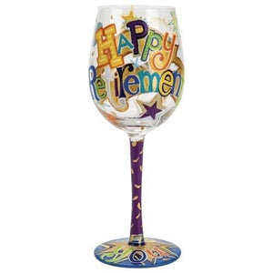 Happy Retirement Wine Glass by Lolita®-Wine Glass-Designs by Lolita® (Enesco)-Top Notch Gift Shop