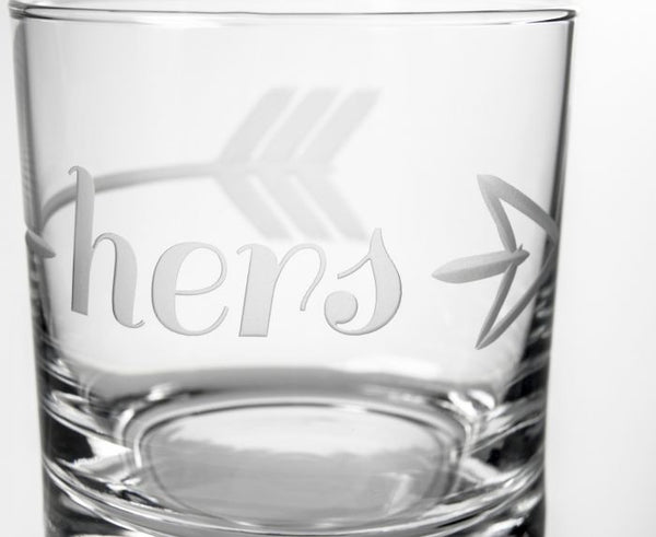 His, Hers & Ours 3 Piece Gift Set | Whiskey Decanter and Rocks Glasses-Decanter-Rolf Glass-Top Notch Gift Shop