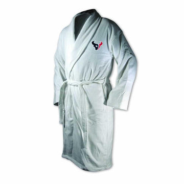 Houston Texans White Terrycloth Bathrobe