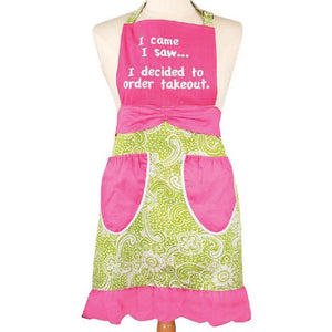 I Came, I Saw, I Ordered Takeout Apron-Apron-Manual Woodworkers & Weavers-Top Notch Gift Shop
