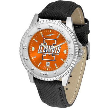 Illinois Fighting Illini Competitor AnoChrome - Poly/Leather Band Watch