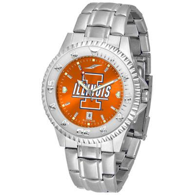 Illinois Fighting Illini Competitor AnoChrome - Steel Band Watch-Watch-Suntime-Top Notch Gift Shop