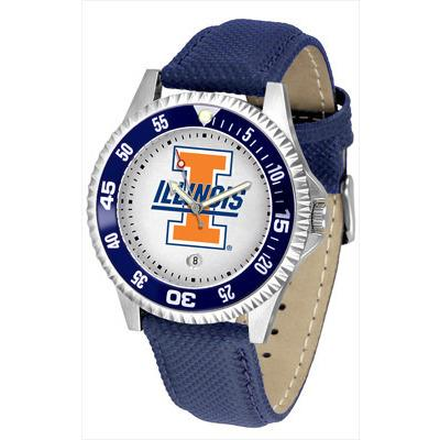 Illinois Fighting Illini Competitor - Poly/Leather Band Watch-Watch-Suntime-Top Notch Gift Shop
