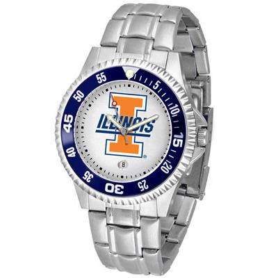 Illinois Fighting Illini Competitor - Steel Band Watch-Watch-Suntime-Top Notch Gift Shop
