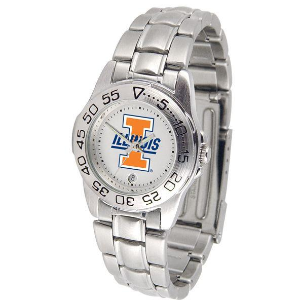 Illinois Fighting Illini Ladies Steel Band Sports Watch-Watch-Suntime-Top Notch Gift Shop