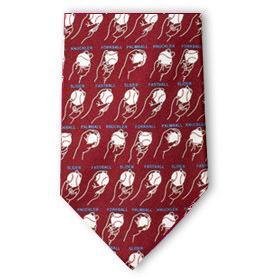 Baseball Pitches Silk Necktie-Necktie-Josh Bach Limited-Top Notch Gift Shop