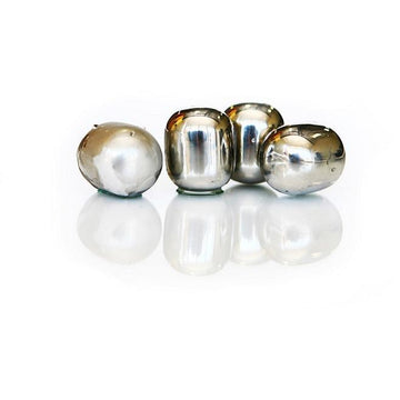 Sparq Polished Stainless Steel Wine Pearls - Set of 4