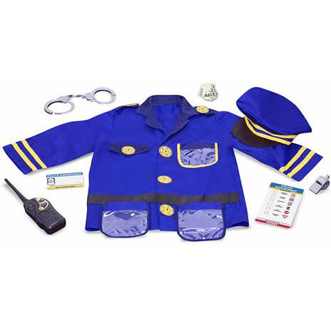 Police Officer Costume Role Play Set-Toy-Melissa & Doug-Top Notch Gift Shop