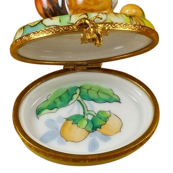 Squirrel In Field With Acorn Limoges Box by Rochard™-Limoges Box-Rochard-Top Notch Gift Shop