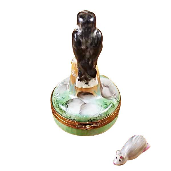 Falcon With Mouse Limoges Box by Rochard-Limoges Box-Rochard-Top Notch Gift Shop