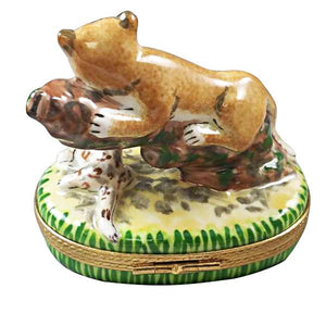 Cougar W/ Baby Limoges Box by Rochard™-Rochard-Top Notch Gift Shop