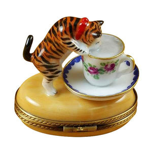 Cat W/Milk Limoges Box by Rochard™-Rochard-Top Notch Gift Shop