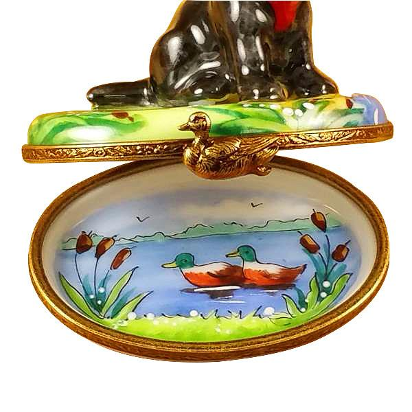 Black Labrador Limoges Box by Rochard-Limoges Box-Rochard-Top Notch Gift Shop
