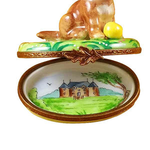 Chocolate Labrador Limoges Box by Rochard™-Limoges Box-Rochard-Top Notch Gift Shop