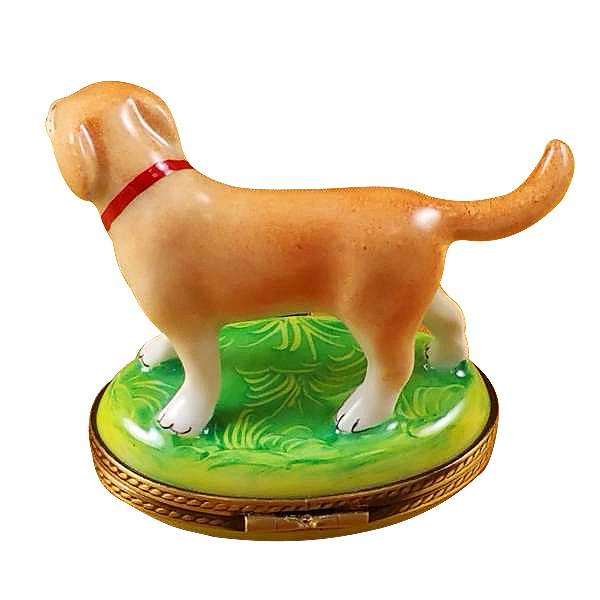 Standing Blond Labrador Limoges Box by Rochard™-Rochard-Top Notch Gift Shop
