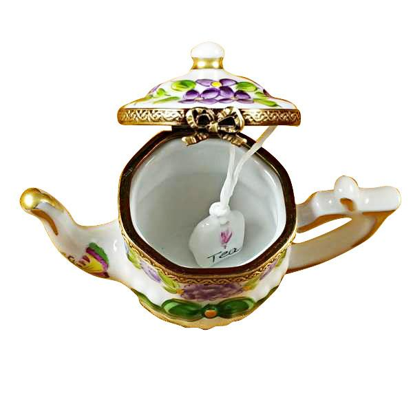 Teapot-Butterfly Limoges Box by Rochard™-Rochard-Top Notch Gift Shop