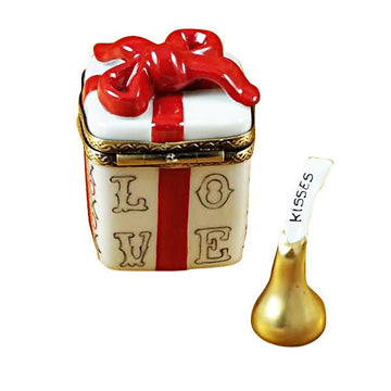 Love Gift Box With Xo/Xo And Removable Kiss Limoges Box by Rochard™