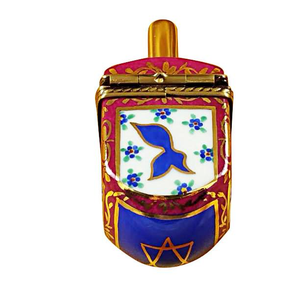 Dreidel Blue/Maroon Limoges Box by Rochard-Limoges Box-Rochard-Top Notch Gift Shop