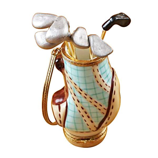 Golf Bag With 6 Clubs Limoges Box by Rochard-Limoges Box-Rochard-Top Notch Gift Shop