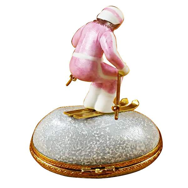 Woman Skier On Mountain Limoges Box by Rochard™-Limoges Box-Rochard-Top Notch Gift Shop