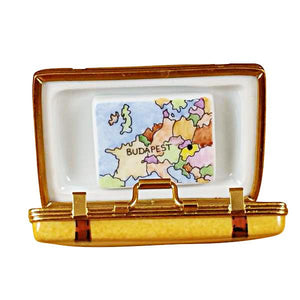 Budapest Suitcase Limoges Box by Rochard™-Limoges Box-Rochard-Top Notch Gift Shop