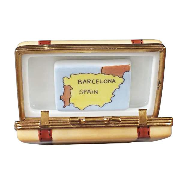 Barcelona Suitcase Limoges Box by Rochard™-Limoges Box-Rochard-Top Notch Gift Shop