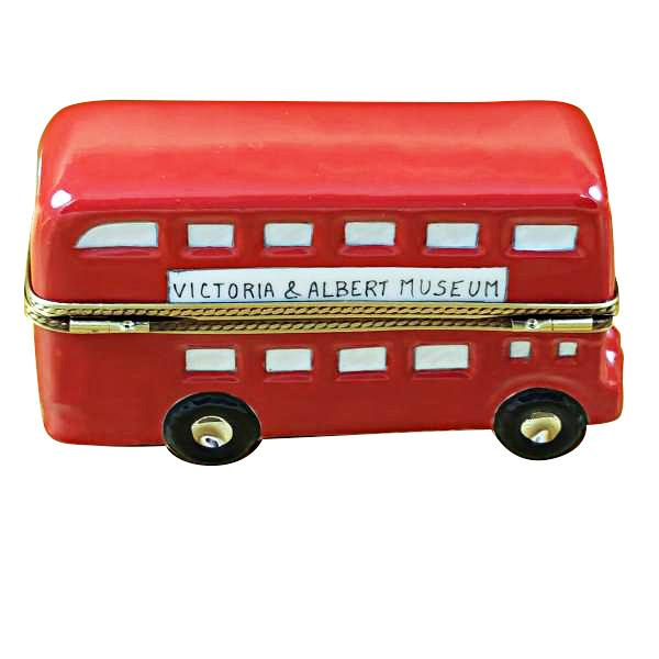 London Double Decker Bus W/Removable Ticket Limoges Box by Rochard™-Rochard-Top Notch Gift Shop