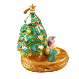 Christmas Tree With Nativity Limoges Box by Rochard™-Limoges Box-Rochard-Top Notch Gift Shop
