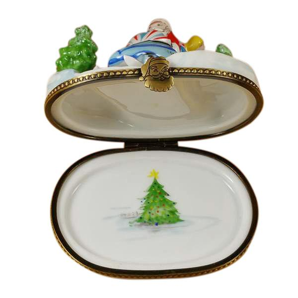 Santa On Snowmobile Limoges Box by Rochard-Limoges Box-Rochard-Top Notch Gift Shop
