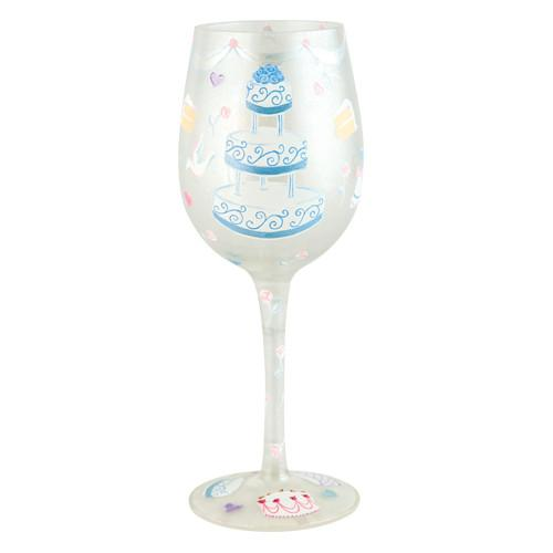 Wedding Cake Wine Glass by Lolita®-Wine Glass-Designs by Lolita® (Enesco)-Top Notch Gift Shop