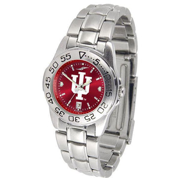 Indiana Hoosiers Ladies AnoChrome  Steel Band Sports Watch