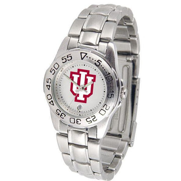 Indiana Hoosiers Ladies Steel Band Sports Watch