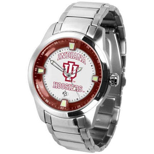 Indiana Hoosiers Men's Titan Stainless Steel Band Watch-Watch-Suntime-Top Notch Gift Shop