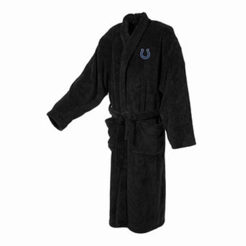 Indianapolis Colts Mens Ultra Plush Black Bathrobe