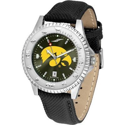 Iowa Hawkeyes Competitor AnoChrome - Poly/Leather Band Watch-Watch-Suntime-Top Notch Gift Shop