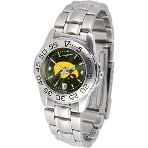 Iowa Hawkeyes Ladies AnoChrome Steel Band Sports Watch-Watch-Suntime-Top Notch Gift Shop