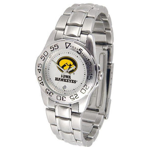 Iowa Hawkeyes Ladies Steel Band Sports Watch-Watch-Suntime-Top Notch Gift Shop