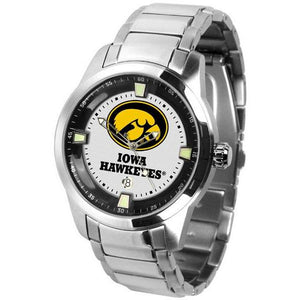 Iowa Hawkeyes Men's Titan Stainless Steel Band Watch-Watch-Suntime-Top Notch Gift Shop