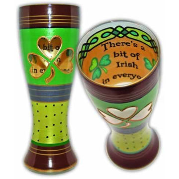 Irish Hand Painted  Pilsner Glass