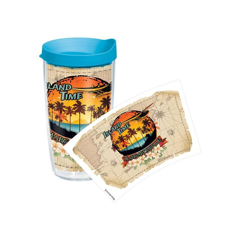 Island Time Vacation 16 oz. Tervis Tumbler with Lid (Min. Order - 2)-TervisTop Notch Gift Shop