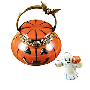Jack O Lantern Pail with Removable Ghost Limoges Box by Rochard™-Rochard-Top Notch Gift Shop