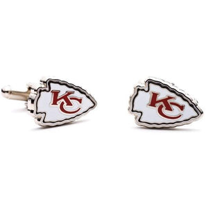 Kansas City Chiefs Enamel Cufflinks-Cufflinks-Cufflinks, Inc.-Top Notch Gift Shop