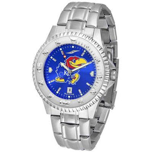 Kansas Jayhawks Competitor AnoChrome - Steel Band Watch-Watch-Suntime-Top Notch Gift Shop